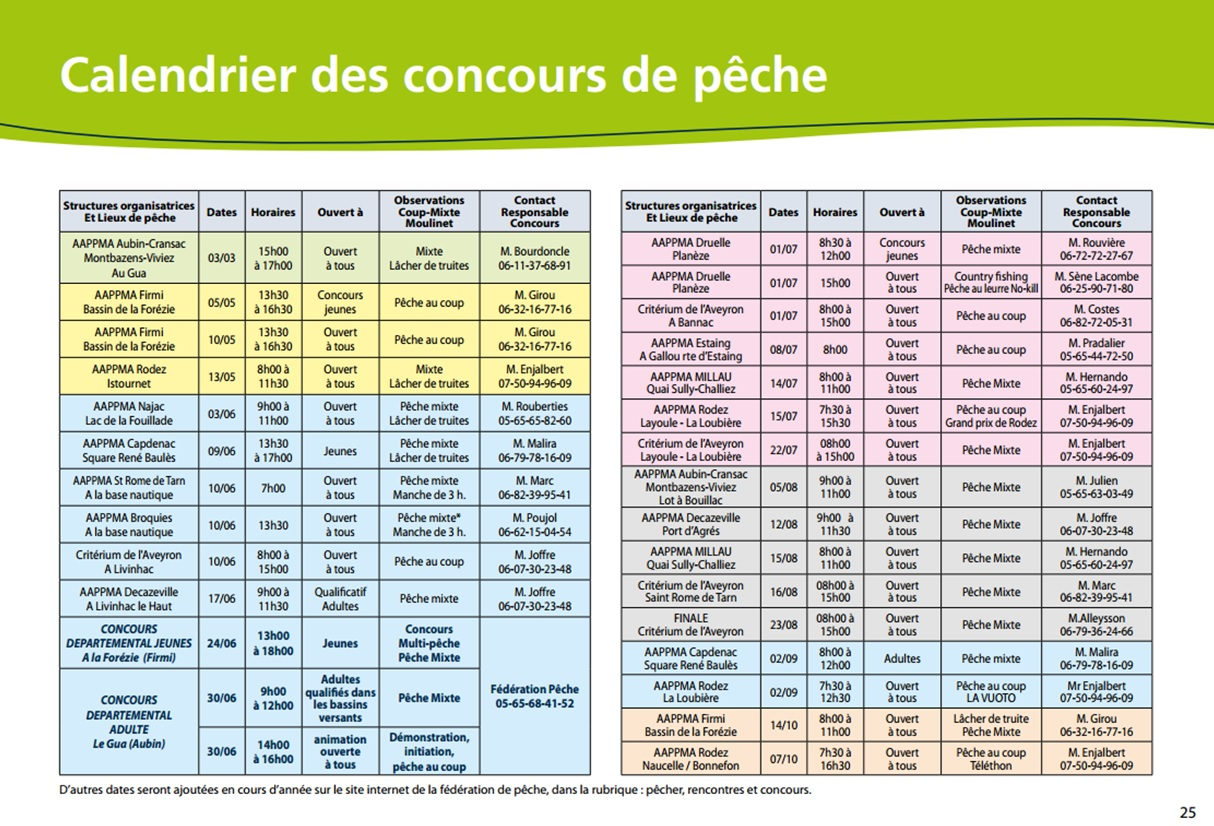 Concours Calendrier.Calendrier Aveyron 2018
